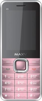 Мобильный телефон Maxvi V5 (розовый)