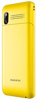 Мобильный телефон Maxvi V5 (желтый)