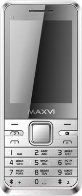 Мобильный телефон Maxvi X1 (серебристый)