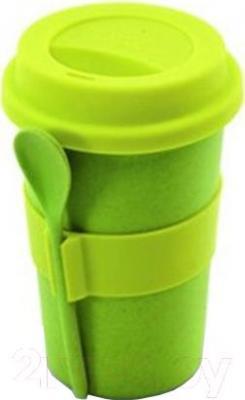 Кружка с ложкой BergHOFF 2800055 (салатовый) - общий вид