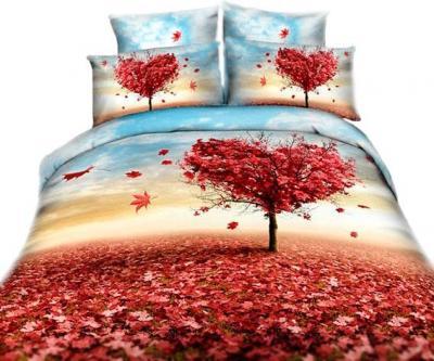 Комплект постельного белья Arya Сатин Печатное 3D Love Tree / PB160X220LT (160x220)