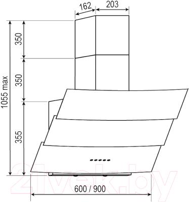 Вытяжка декоративная Dach Bonita 60 (белый)