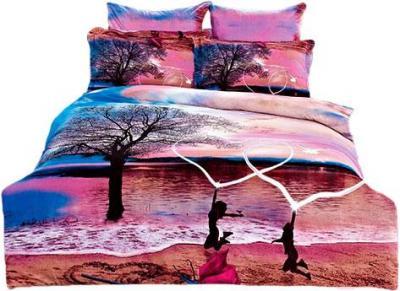 Комплект постельного белья Arya Сатин Печатное 3D Sand Love / PB160X220Sand (160x220)
