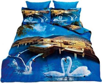 Комплект постельного белья Arya Сатин Печатное 3D Maldives / PB160X220Mald (160x220)