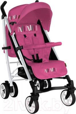 Детская прогулочная коляска Lorelli S200 (черно-розовый)