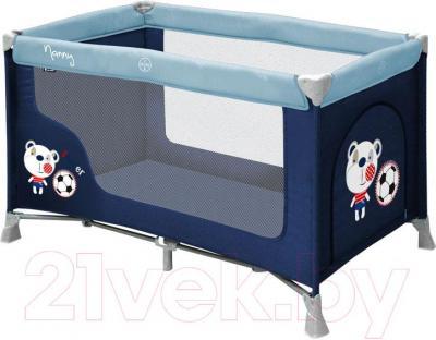 Кровать-манеж Lorelli Nanny 1 (Blue Soocer)