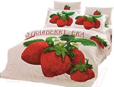 Комплект постельного белья Arya Сатин Печатное Strawberry / PB160X220Straw (160x220)