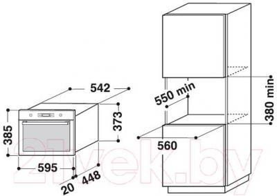 Микроволновая печь Whirlpool AMW 735/WH - информация для установки