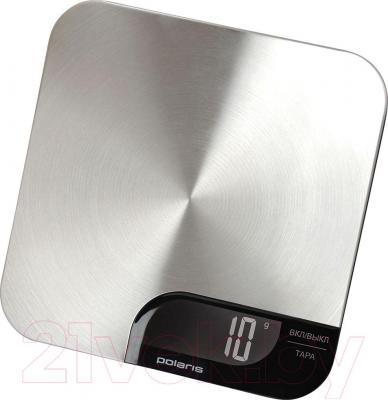 Кухонные весы Polaris PKS 0538DM (нержавеющая сталь/черный)