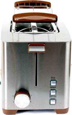 Тостер Polaris PET 0910 Sakura (коричневый) - вид сбоку
