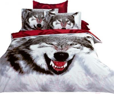 Комплект постельного белья Arya Сатин Печатное Siberian Wolf / PB160X220Sibe (160x220)