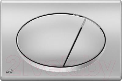 Кнопка для инсталляции Alcaplast M72 (матовый хром)