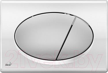 Кнопка для инсталляции Alcaplast M73 (хром глянцевый/матовый)