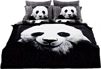 Комплект постельного белья Arya Сатин Печатное Panda / PB160X220Pan (160x220)