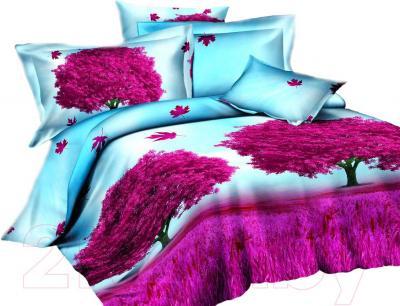 Комплект постельного белья Arya Сатин Печатное Allberro Violet / PB160X220AlVi (160x220)