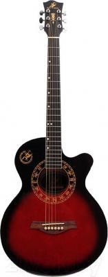 Акустическая гитара Swift Horse WG-380 C/ORDS (красный)