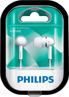 Наушники Philips SHE1450WT/51 - в упаковке