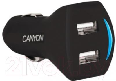 Автомобильное зарядное устройство Canyon CNE-CCA22SB (черный)