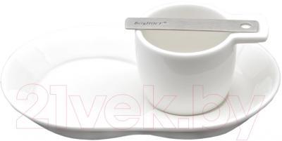 Блюдце BergHOFF Neo 3500315 - общий вид (чашка и аксессуар приобретаются отдельно)