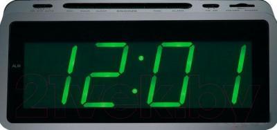 Радиочасы Mystery MCR-60 (серебристо-зеленый)