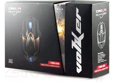 Мышь Crown Micro CMXG-606 (коричневый) - упаковка