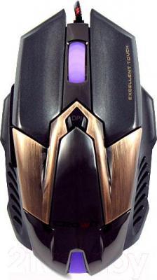 Мышь Crown Micro CMXG-606 (коричневый) - вид сверху