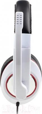 Наушники-гарнитура Gembird MHS-001-GW Stereo (белый)