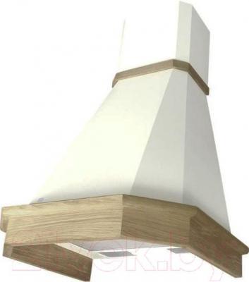 Вытяжка купольная Elikor Камин Грань 60П-650-П3Л (белый/дуб неокрашенный)