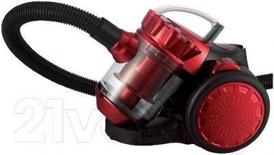 Пылесос Home Element HE-VC1800 (черный бургунди)