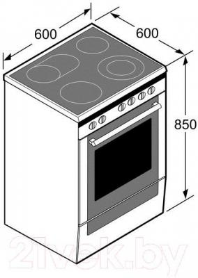 Кухонная плита Bosch HCA744260R