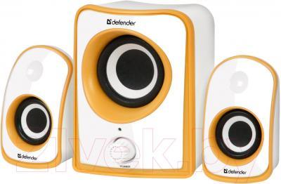 Мультимедиа акустика Defender JamSation S10 (бело-оранжевый) - общий вид