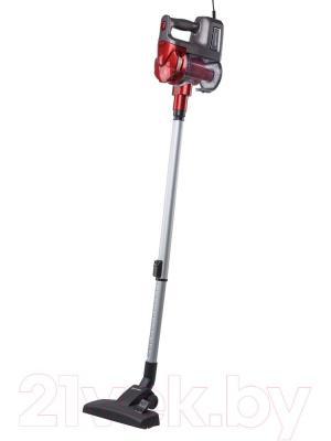Вертикальный пылесос Kitfort KT-513-1 (красный) - вид сбоку