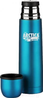 Термос для напитков Арктика 103-500 (бирюзовый) - крышка-стакан