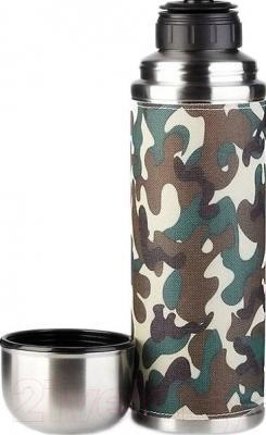 Термос для напитков Арктика 108-500X (в текстильной оплетке, хаки) - крышка-чашка