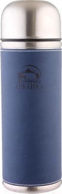 Термос для напитков Арктика 108-700 (в кожаной оплетке, синий)