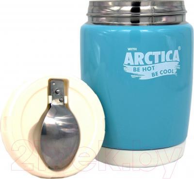Термос для еды Арктика 409-480 (голубой) - складная ложка