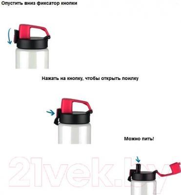 Термос для напитков Арктика 702-400Sea - система открытия