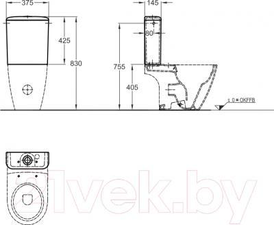Сливной бачок Keramag iCon 229420-000 - технический чертеж