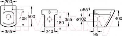 Унитаз напольный Roca Hall A347627000 - схема