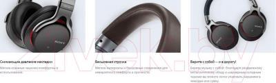 Наушники-гарнитура Sony MDR-1ABT (серебристый)