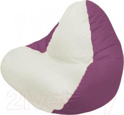 Бескаркасное кресло Flagman Relax Г4.1-002 (белый/бордовый)