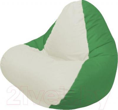 Бескаркасное кресло Flagman Relax Г4.1-004 (белый/зеленый)