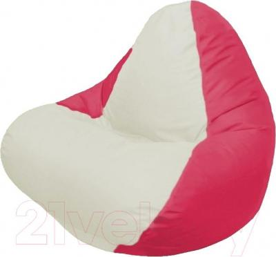 Бескаркасное кресло Flagman Relax Г4.1-005 (белый/красный)