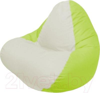 Бескаркасное кресло Flagman Relax Г4.1-006 (белый/салатовый)