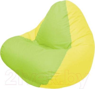 Бескаркасное кресло Flagman Relax Г4.1-011 (салатовый/желтый)