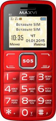 Мобильный телефон Maxvi B2 (красный)