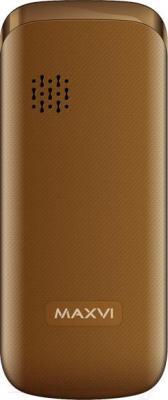 Мобильный телефон Maxvi C4 (коричневый)