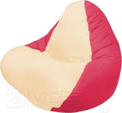 Бескаркасное кресло Flagman Relax Г4.1-018 (светло-бежевый/красный)