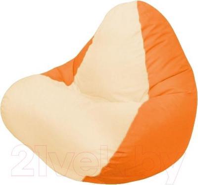 Бескаркасное кресло Flagman Relax Г4.1-019 (светло-бежевый/оранжевый)