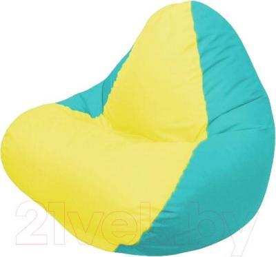 Бескаркасное кресло Flagman Relax Г4.1-027 (желтый/бирюзовый)